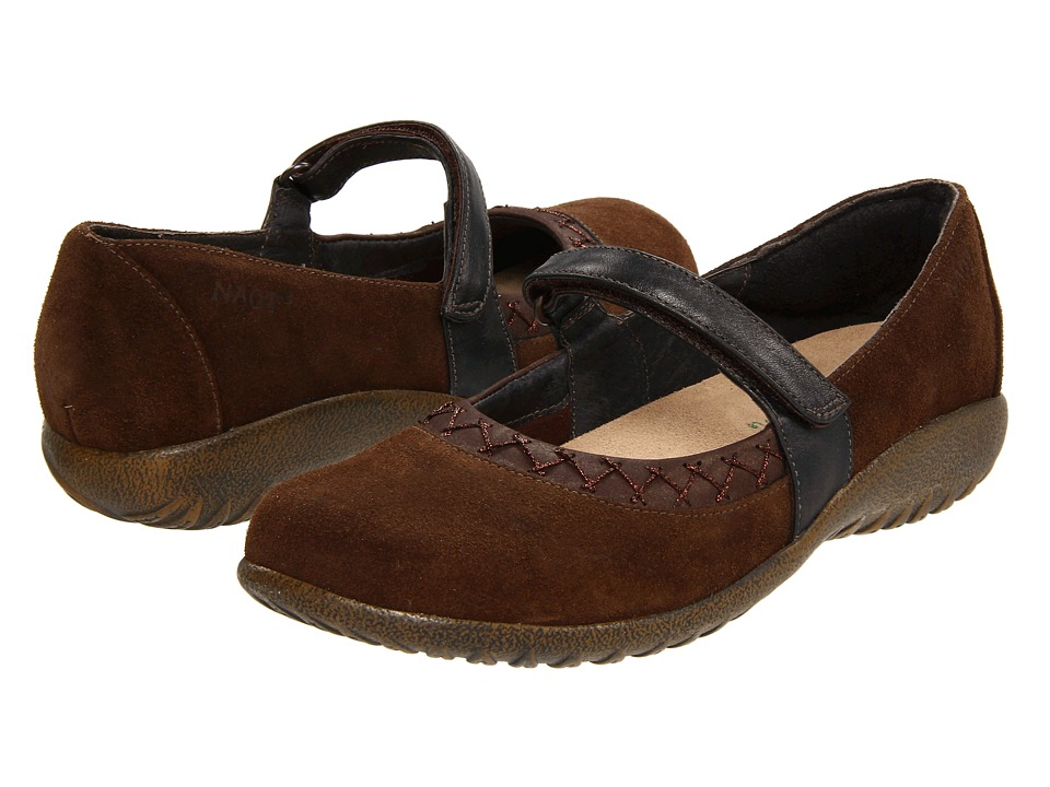 Naot Footwear - Timaru (Hash Suede/Brown Shimmer Nubuck/Black Pearl Leather) Women
