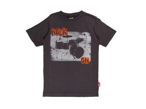Charlie Rocket - Rock On Tee (Little Kids) (Ebony) Boy's T Shirt