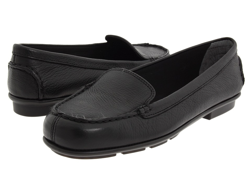 A2 by Aerosoles - Nu Day (Black Leather) Women's Slip on Shoes