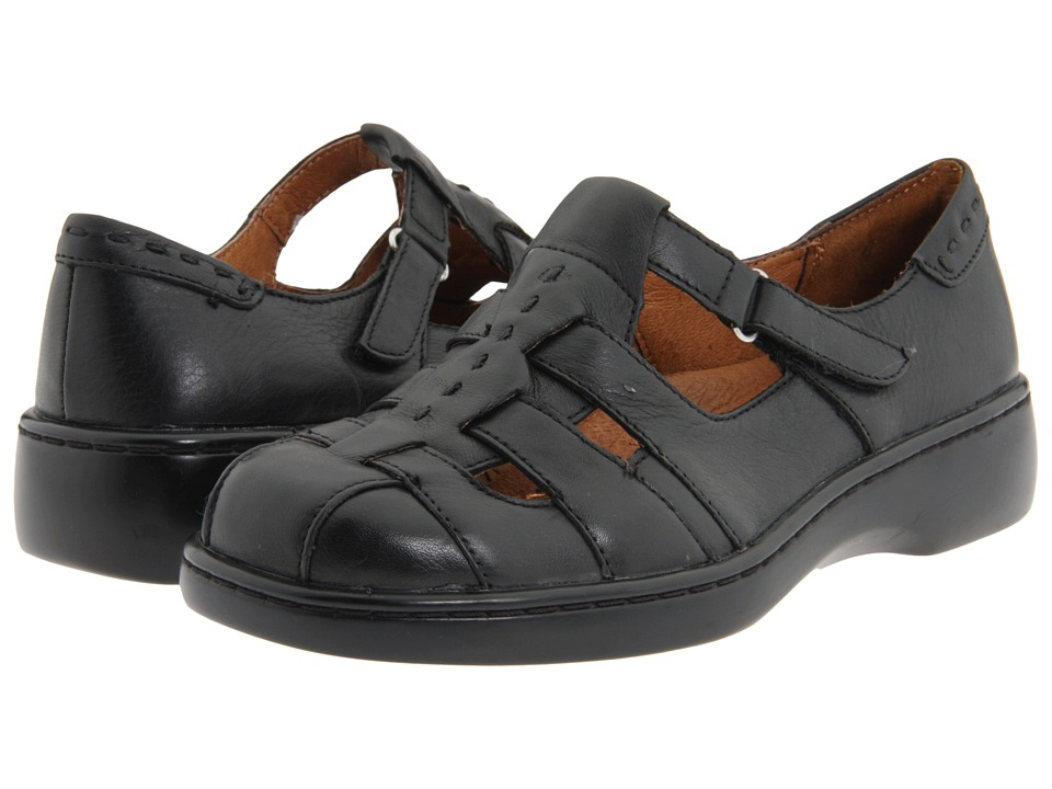 Naturalizer - Mozart (Black Leather) Women's Hook and Loop Shoes