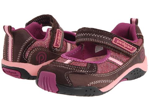 pediped - Dakota Flex (Toddler/Little Kid) (Brown) Girl's Shoes