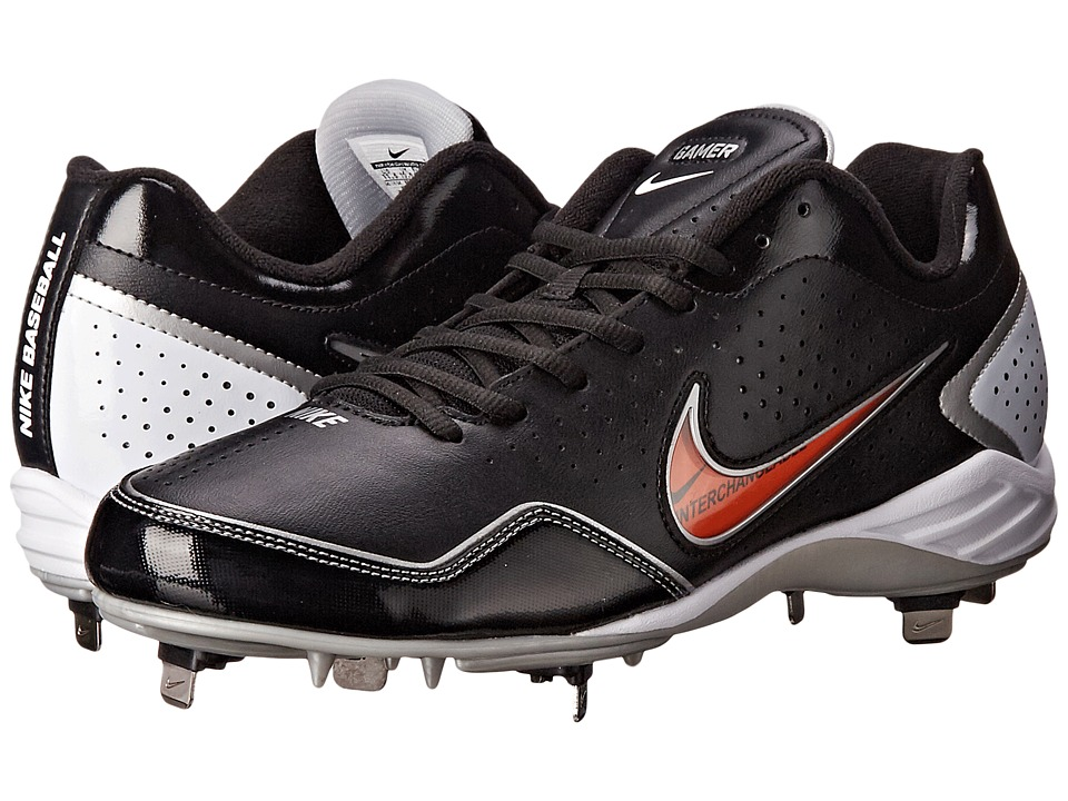 Nike - Gamer Conversion (Black/Metallic Silver/White) Men's Cleated Shoes