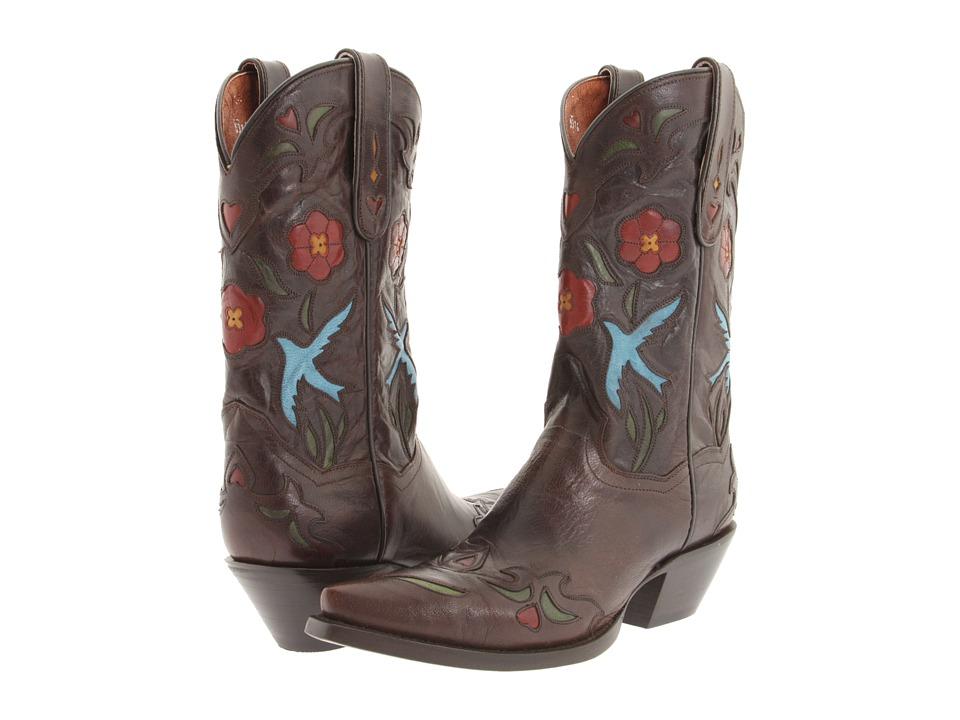 Dan Post - Blue Bird (Chocolate Goat) Cowboy Boots