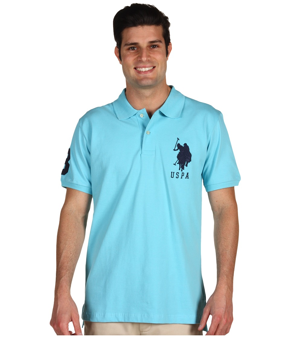 U.S. POLO ASSN. - Big Pony Polo (Horizon Blue) Men's Short Sleeve Knit