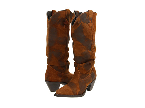 Dingo - Muse (Brown Shabby Slouch) Cowboy Boots