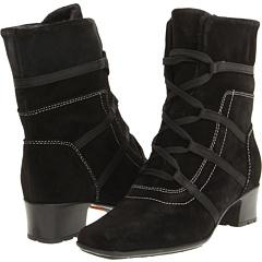 Sesto Meucci Saura (Black Velux Suede) Footwear