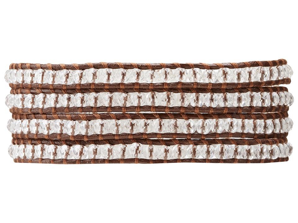 Chan Luu - Semiprecious Stone Wrap Bracelet (Clear Quartz) Bracelet