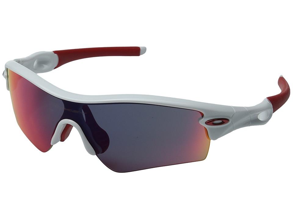 Oakley - Radar(r) Pathtm (Polished White/+Red Iridium Lens) Sport Sunglasses