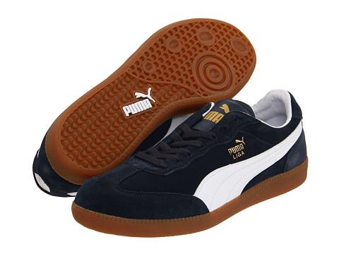 PUMA - Liga Suede Classic (New Navy/White) Classic Shoes