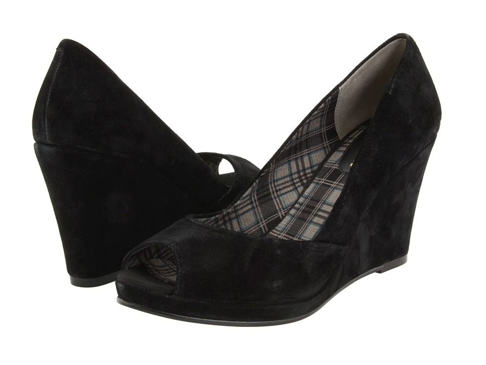 Chinese Laundry - Shooter (Black Suede) Women's Wedge Shoes