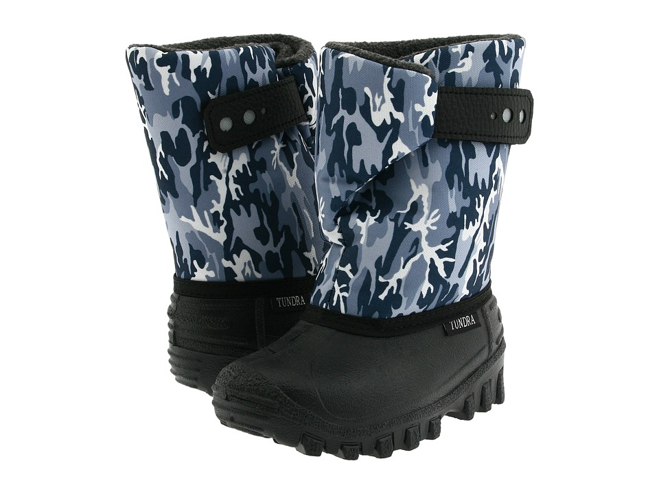 Tundra Boots Kids Teddy 4 (Toddler/Little Kid) (Black/Grey Camo) Boys Shoes