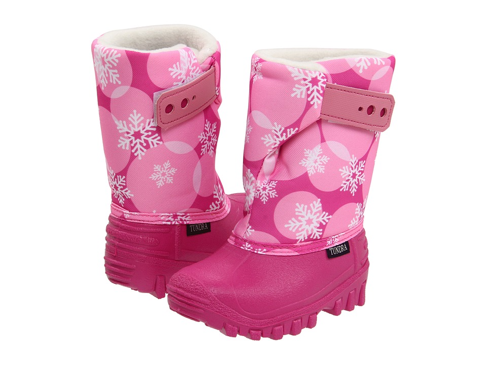 Tundra Boots Kids - Teddy 4 (Toddler/Little Kid) (Fuchsia/Pink Flakes) Girls Shoes