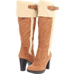 Naturalizer Trinity Wide Shaft (Tan Wide Shaft Microfiber Faux Fur) Footwear