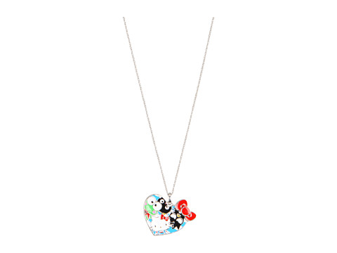 Hello Kitty - 50th Anniversary Hello Kitty Pendant Necklace (Sterling Silver/Enamel) Necklace