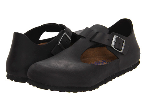 Birkenstock - Paris Soft Footbed (Black Oiled Leather) Women