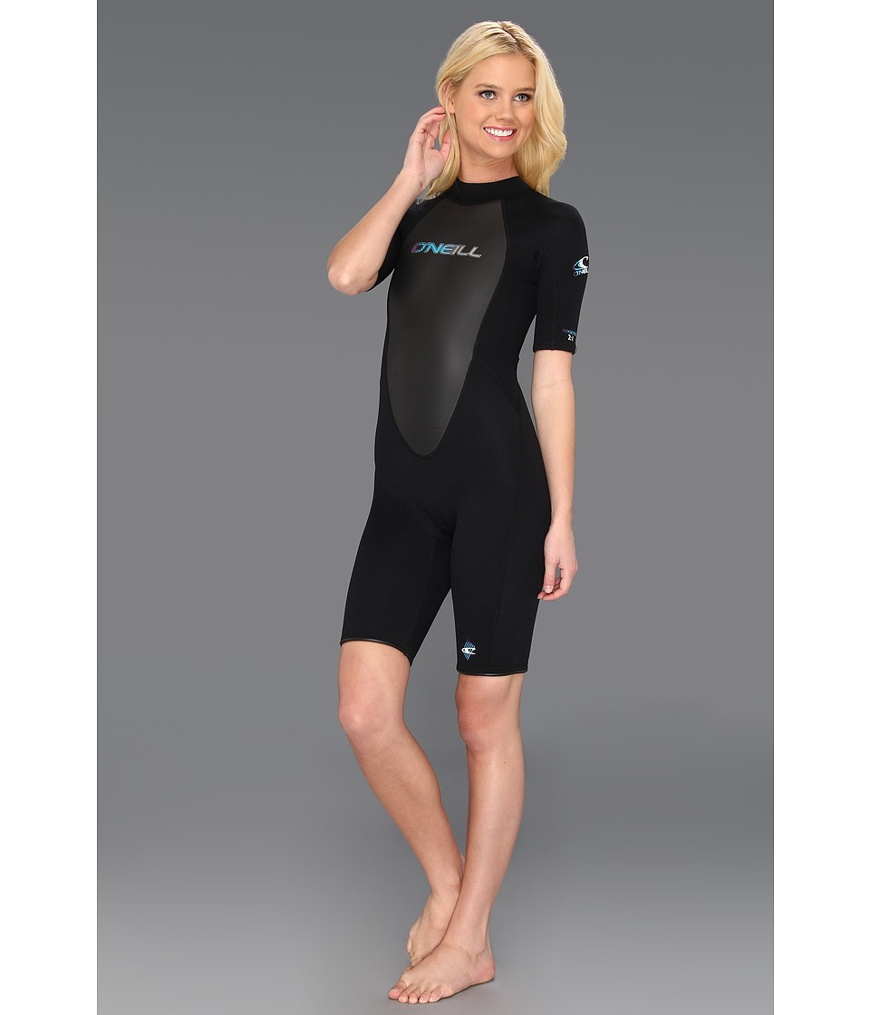 O'Neill - Reactor Spring Suit (Black/Black/Black) Women's Wetsuits One Piece
