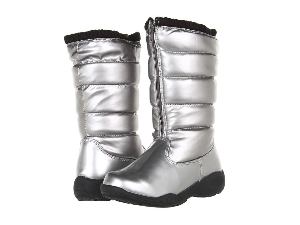 Tundra Boots Kids - Puffy (Little Kid/Big Kid) (Silver) Girls Shoes