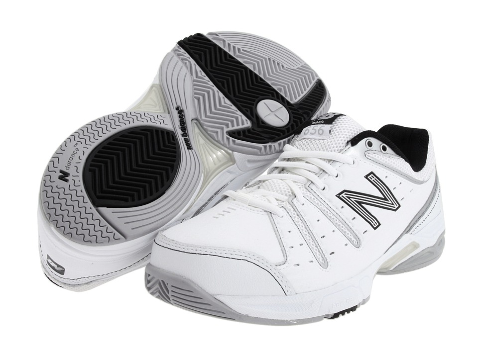 New Balance - WC656 (White/Silver) Women's Tennis Shoes