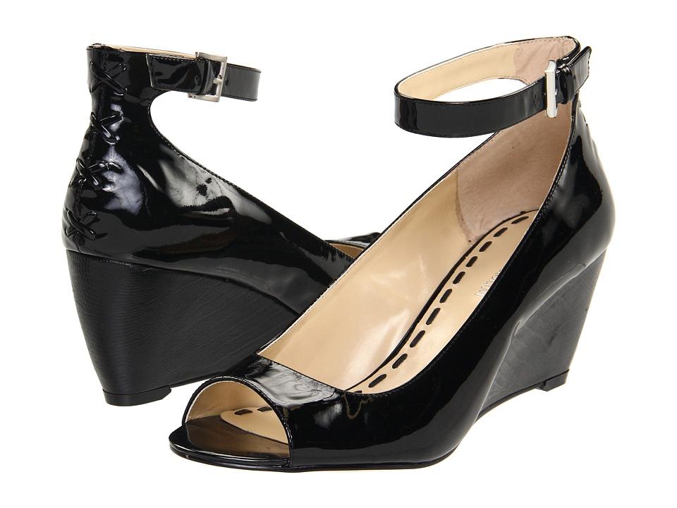 Enzo Angiolini - Qamra (Black Patent) Women's Toe Open Shoes