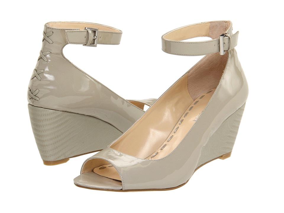 Enzo Angiolini - Qamra (Grey Patent) Women's Toe Open Shoes