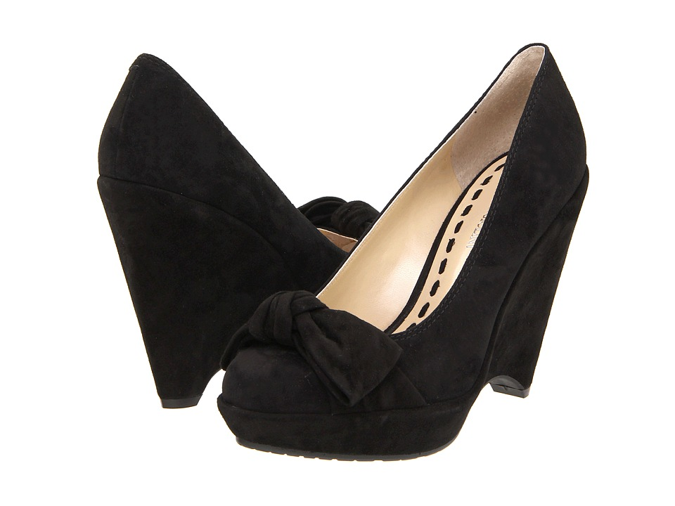 Enzo Angiolini Carlina (Black Suede) Women
