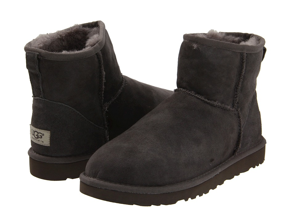 UGG - Classic Mini (Grey) Women's Pull-on Boots