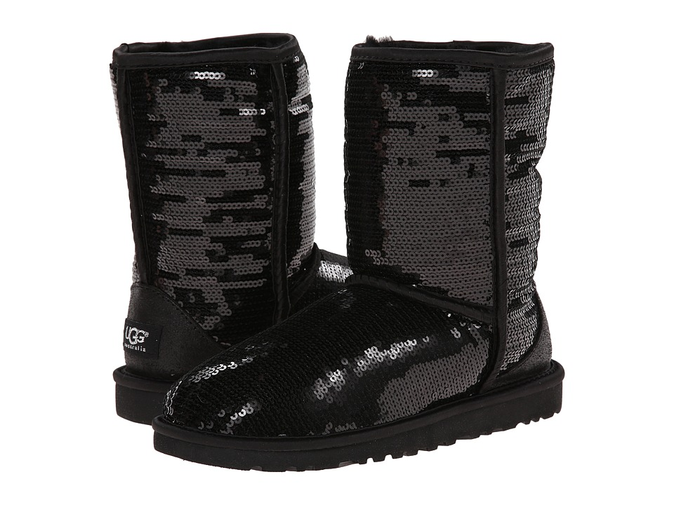 UGG - Classic Short Sparkles (Black) Women's Boots