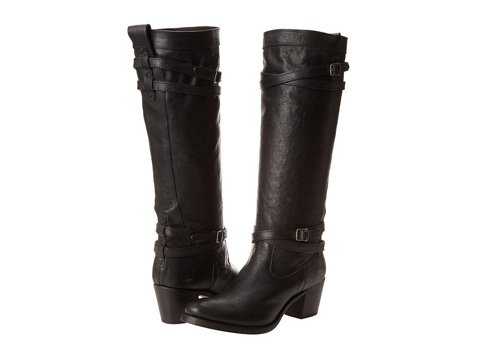 Frye - Jane Strappy (Black Tumbled Full Grain) Women's Boots