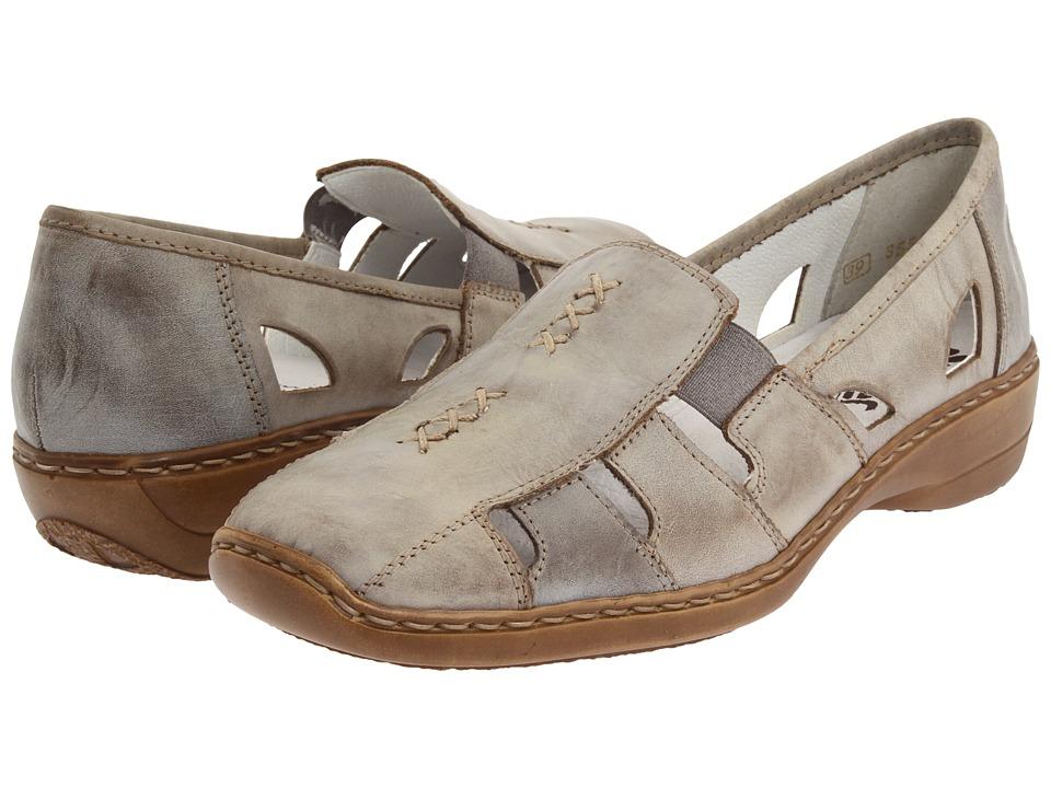 Rieker - 41385 Doris 85 (Whitestone) Women's Slip on Shoes