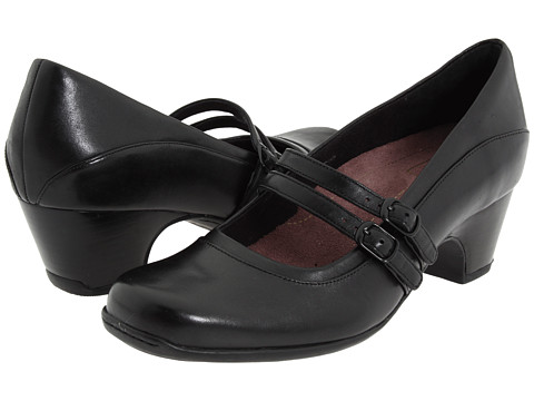Clarks - Sugar Dust (Black Leather) Women's Shoes