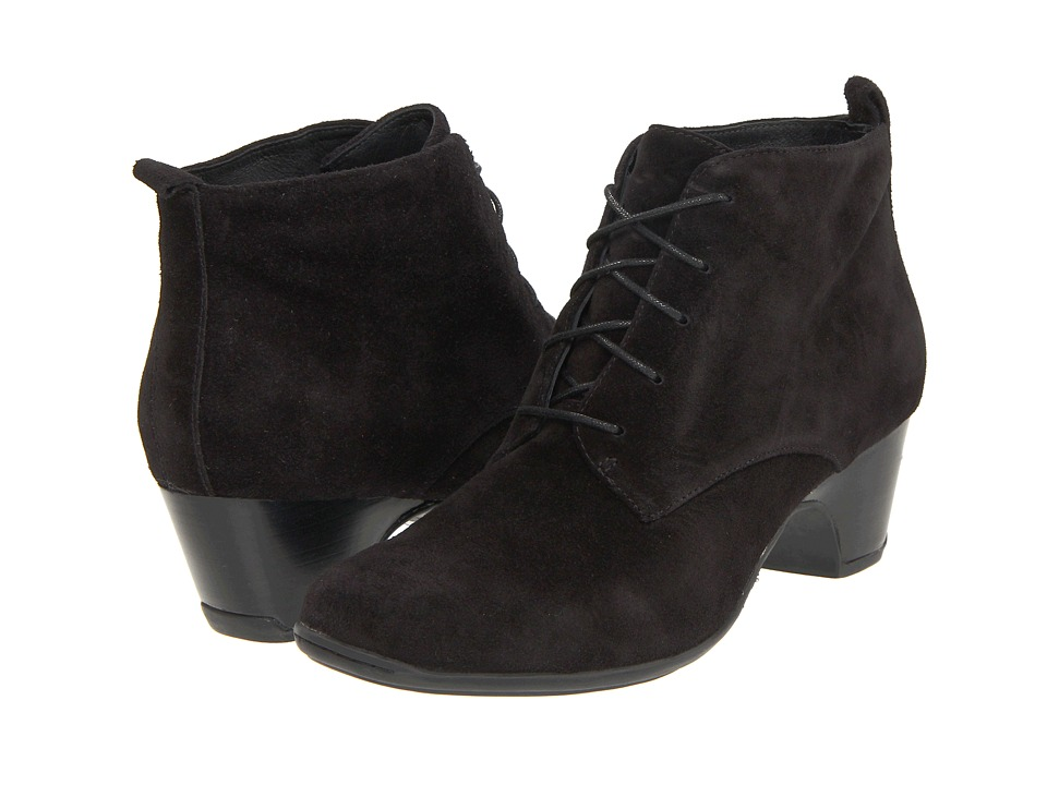 Clarks - Leyden Bell (Black Suede) Women's Dress Lace-up Boots