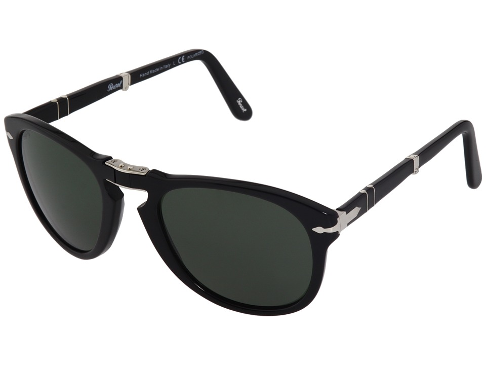 Persol - PO0714P - Polarized (Black/Green Polarized) Sport Sunglasses