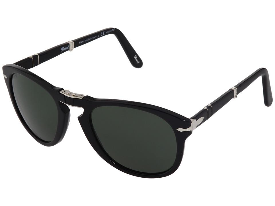 Persol - PO0714P - Polarized (Black/Green Polarized) Sport Sunglasses