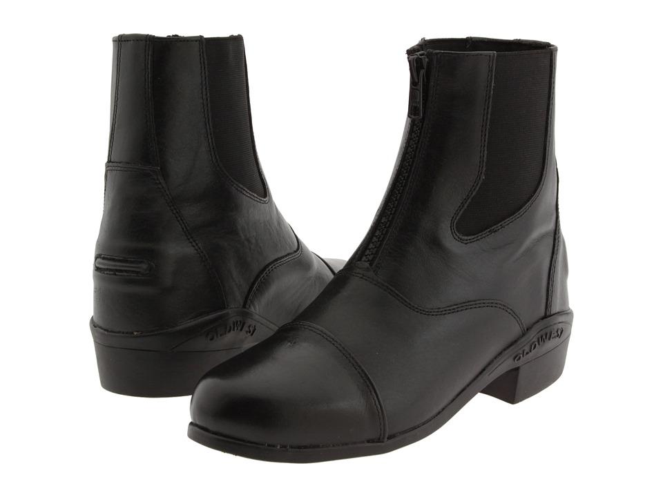 Old West English Kids Boots - Zipper Boot (Toddler/Little Kid/Big Kid) (Black) Cowboy Boots