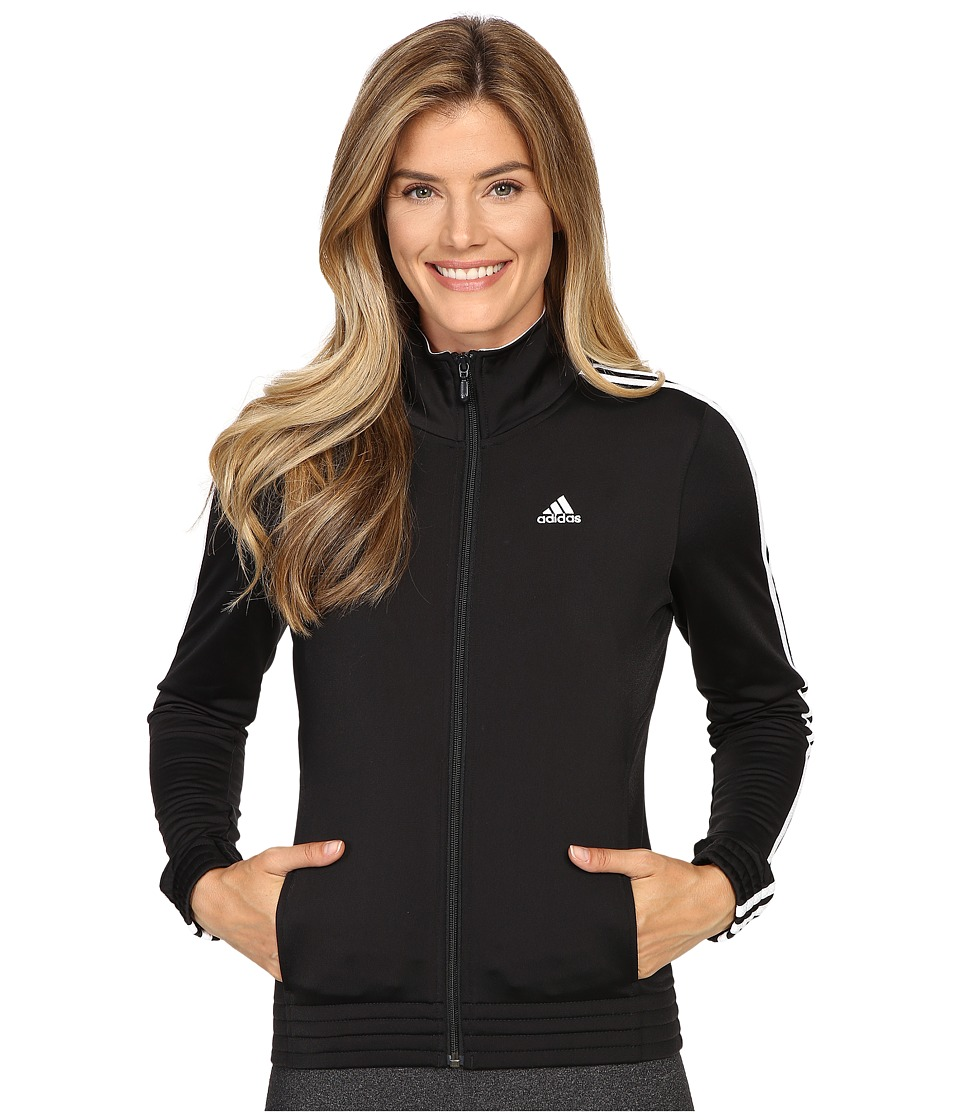 adidas - 3-Stripes Jacket (Black/White) Women's Jacket