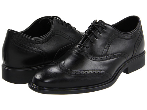 Neil M. - Chairman (Black Leather) Men's Lace Up Wing Tip Shoes