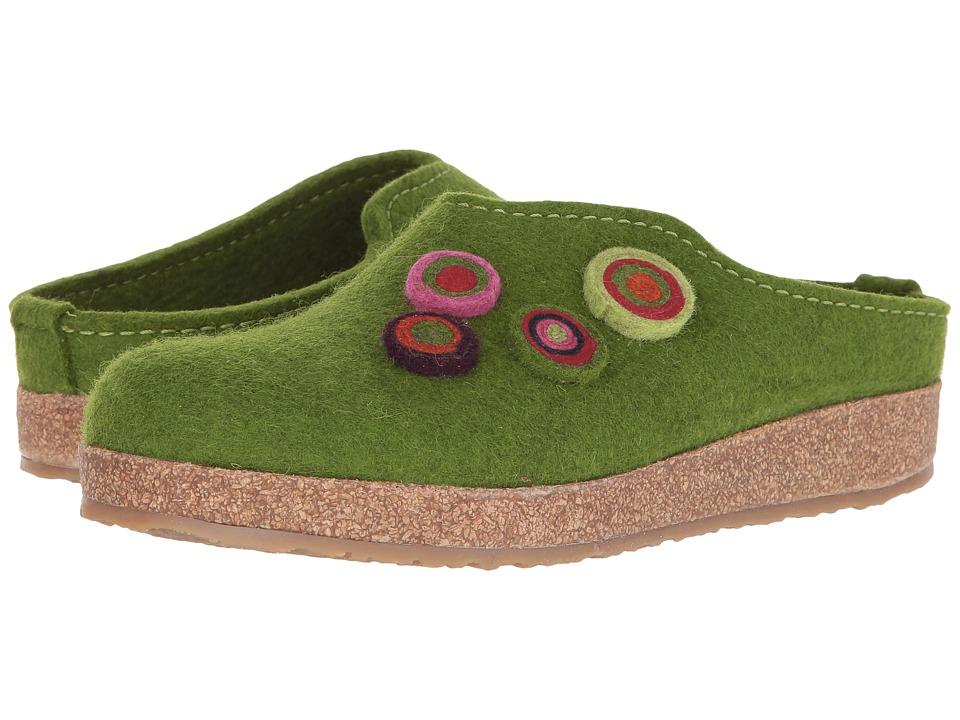 Haflinger - Chloe (Green) Women's Clog Shoes