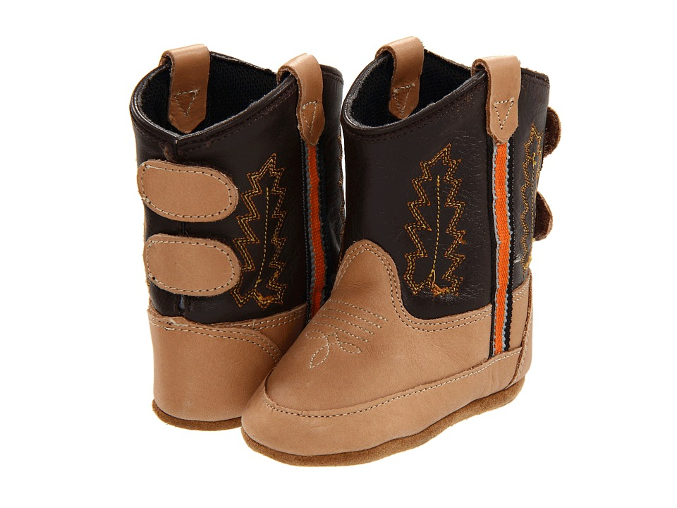 Old West Kids Boots - Poppets (Infant/Toddler) (Bazooka/Chocolate) Cowboy Boots