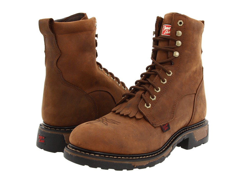 Tony Lama - TW2004 Lace Up Steel Toe (Tan Cheyenne) Men's Work Lace-up Boots