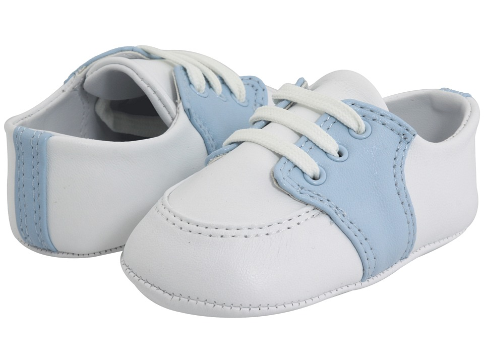 Baby Deer - Conner (Infant) (White/Light Blue Leather) Boy's Shoes