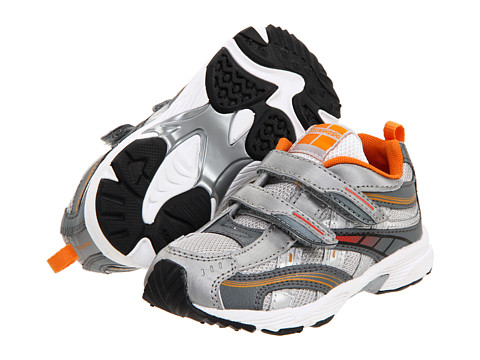 Tsukihoshi Kids - Flame (Toddler/Little Kid) (Silver/Orange) Boys Shoes