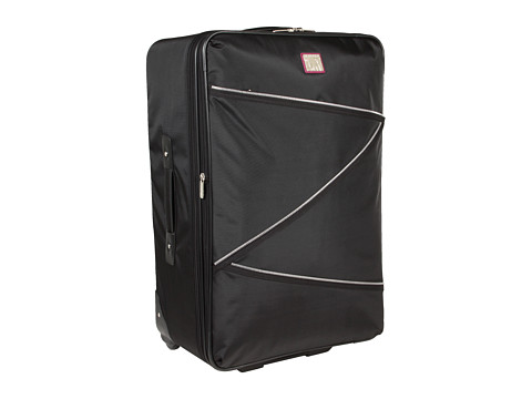 Diane von Furstenberg - Betty Collection - 28 Expandable Rolling Suitcase (Black/Violet) Suiter Luggage