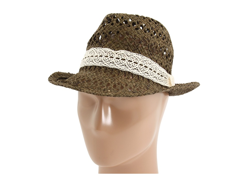San Diego Hat Company - RHF6108 Raffia Fedora (Brown) Traditional Hats