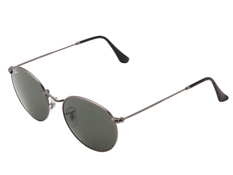 Ray-Ban - RB3447 (Pewter/Crystal Green) Metal Frame Fashion Sunglasses