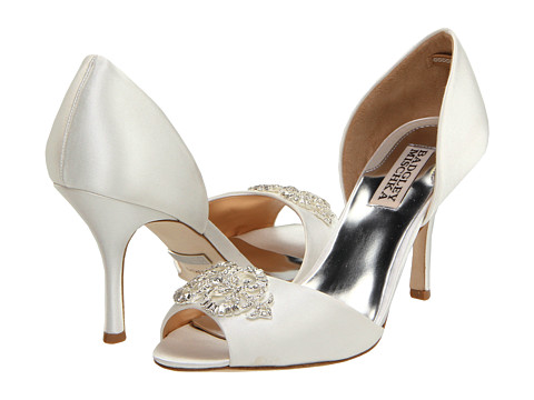 Badgley Mischka - Salsa (White Satin) High Heels