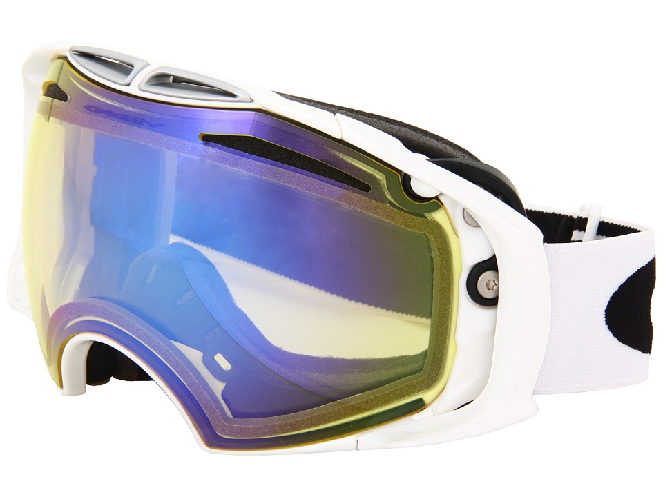 Oakley - Airbrake (Polished White/High Intensity Yellow Iridium Lens) Snow Goggles