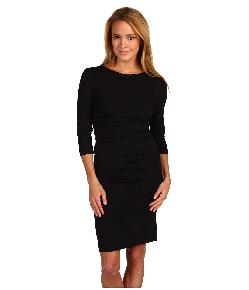 Nicole Miller - Ponte Day Dress (Black) Women's Dress