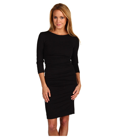 Nicole Miller - Ponte Day Dress (Black) Women