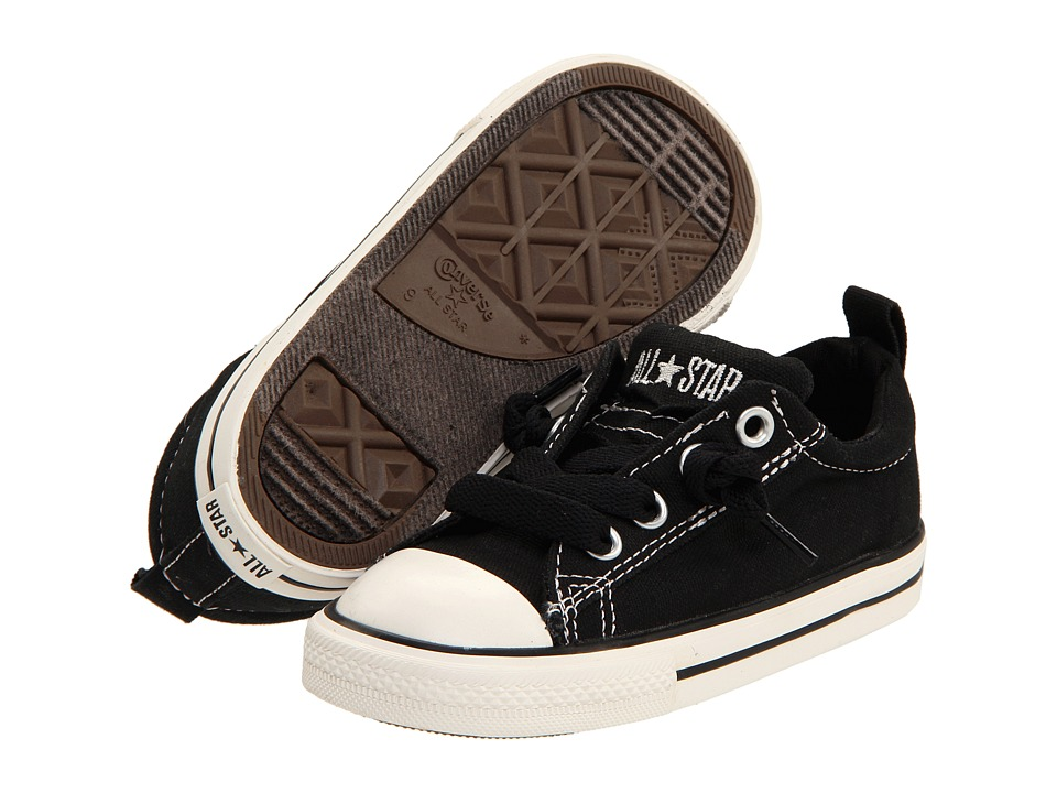 Converse Kids Chuck Taylor(r) All Star(r) Street Ox (Infant/Toddler) (Black/White) Kid