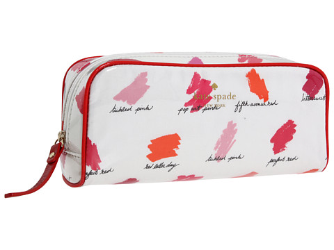 Kate Spade New York - Supercalifragilipstick Small Henrietta (Red) Cosmetic Case